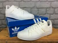 ADIDAS ORIGINALS MENS STAN SMITH VULC WHITE NAVY LOGO TRAINERS RRP £70 T