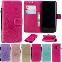 Butterfly Wallet Leather Flip Case Cover For Samsung S20 S10 S9 Plus A51 A10 A50