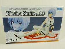 EVANGELION - FLASH A SMILE VER. 1.5 - REI FIGURE - SEGA PRIZE 2010 - NEW IN BOX