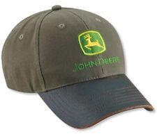 JOHN DEERE *MOSS TWILL w/WAXY COTTON BILL* TWILL HAT CAP *BRAND NEW*