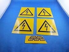 Konvolut Aufkleber, Sticker, Gefahr Aufkleber Warning Strom Elektrizität Gefahr