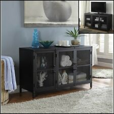 Industrial Metal Sideboard 3 Doors Storage Accent Cabinet Buffet Console 3in1