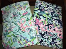 Lilly Pulitzer SWAY THIS WAY Bali Blue Navy 2 BEACH TOWEL SET Oversized GWP NWT