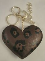 MARY KAY COSMETICS Key Chain Puffy LOVE Brown Leopard Print Prize NEW