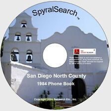 CA - San Diego North County 1984 Phone Book CD - Searchable