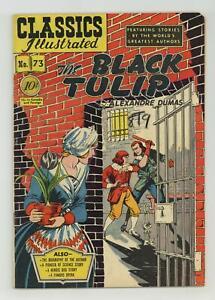 Classics Illustrated 073 The Black Tulip #1 VG/FN 5.0 1950