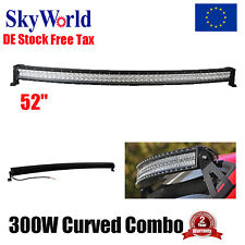US Curved 52inch 300W LED Work Light Bar Combo Truck Offroad SUV Boat Jeep UTE