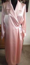 Sexy Liquid Satin Rosie Pink M&S Dressing Gown / Robe, Size 12-14