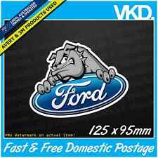 Ford Bulldog Sticker/ Decal - Falcon XR6 XR8 V8 BA Turbo Ute Vinyl Car JDM Dog