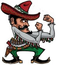 FIGHTING MEXICAN MAN STICKER / DECAL