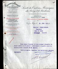 VIERZON-FORGES (18) TUILERIE du BERRY & de BORDEAUX / PRODUITS REFRACTAIRES 1911
