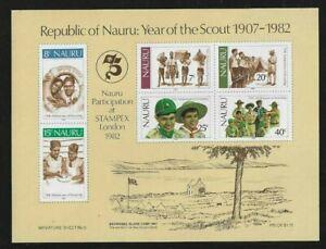 Nauru Scott # 249a Year of the Scout Souvenir Sheet 1982