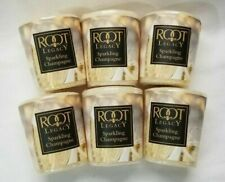 Root Candle Wax Votive Candles: SPARKLING CHAMPAGNE Lot of 6 Natural Beeswax