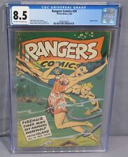 RANGERS COMICS #39 (Matt Baker art, Lingerie panels) CGC 8.5 Fiction House 1948