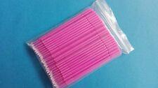 New 10 Pack Dental Disposable Micro Applicator Brush Sticks Bendable Medium Pink