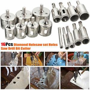 16Pcs Diamond Holesaw set Holes Saw Drill Bit Cutter Tile Glass Marble Ceramic