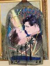 GRETA GARBO CLARK GABLE ICONIC HOLLYWOOD KISS CARY GRANT PAINTED JEAN JACKET M L