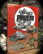 HITLER'S PANZERS ~ LARGE COLOR ILLUS HC w/ D/J 1974 ~ PANZERWAFFE WORLD WAR II