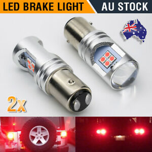 2X LED Stop Tail Light Bulbs Brake Globes Canbus BAY15D 1157 P21/15W Bar Red