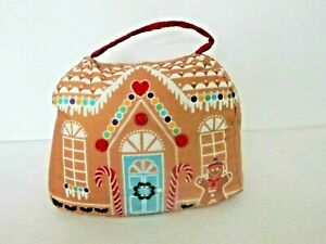FABRIC DOORSTOP CHOICE GINGERBREAD HOUSE OR FESTIVE PENGUINS