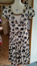 New Ladies Maxi Summer Cream + Golds & Browns Pattern Dress Size 14 M by Next