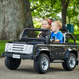 12V Land Rover Electric Battery-Powered Ride-On Car For Kids