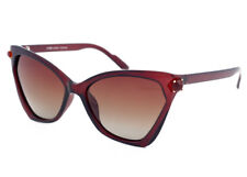 Eternal Polarised Women Ladies Cat-Eye Style Sunglasses for Driving Brown Frame