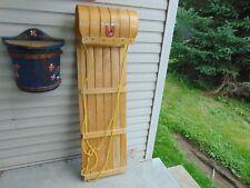 """vintage,  wooden  snow  toboggan   45 """"   nice  # 7755"""