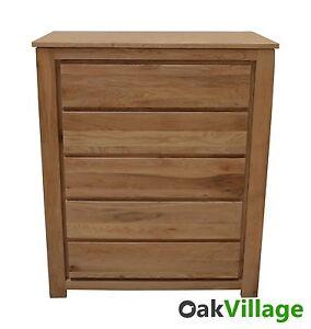 Large Oak 5 Drawer Chest of Drawers / Storage / Solid Wood / Bedroom Bloomsbury