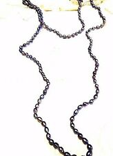60 Inch Vintage Styled Grey Freshwater Genuine Pearl Jumprope Necklace