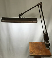 Vintage Dazor P-2124 Fluorescent Clamp-on Desk Lamp Floating Fixture Work Light