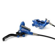 Hope Tech 3 V4 Blue Right / Rear w/ Black Hose Brake w/ Floating Rotor New