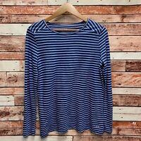 Vineyard Vines Women's Blue/White Stripe L/S Whale T-Shirt. Size Small.