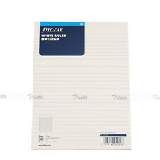 Filofax A5 Organiser White Ruled Notepad Refill Insert Accessory - 342210