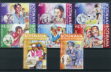 Botswana 2016 MNH Progress 60 Yrs 8v Set Health Education Sports Telecoms Stamps