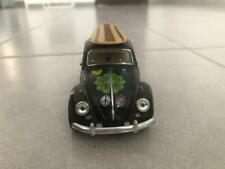 Kinsmart 1967 Classic Volkswagen Beetle with drawings of flowers and surfboard
