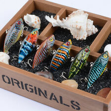 6pcs Lot VIB Fishing Lures 6.5cm 10.6g Bass Plastic Bait 8# Hooks Fishing Tackle