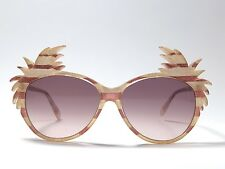 """New Vintage Michele Lamy For Victor Gros """" Cocotier """" Rose Oversized Sunglasses"""