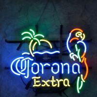 Corona Neon Sign Light Parrot Extra Beer Bistro Shop Bar Window Wall Room Decor