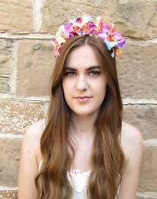 Orchidée De L'arc-en-ciel Fleur Bandeau Guirlande De Fleurs Festival Cheveux