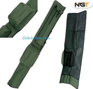NGT 3 + 3 Quickfish Made Up Rod and Reel Padded Holdall Bag Carp Fishing