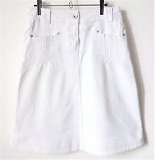 JUPE blanche en jeans coton stretch Yessica T36 TBE