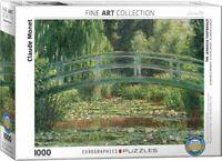 Eurographics Puzzle 1000 Piece Jigsaw  - Monet Japanese Footbridge EG60000827
