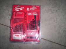 Milwaukee Thunderbolt Black Oxide Drill Bit Set - 21-Piece (48-89-2801)