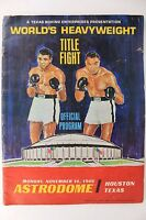 Muhammad Ali vs. Cleveland Williams 1966 Astrodome Boxing Complete Program 15X