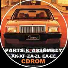 FORD FALCON XM XP XR XT XW XY XA XB XD XE ZJ FC  FORD FACTORY PARTS CATALOGUE CD