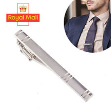 Silver Formal Metal Tie Clip Holder 60mm Stainless Steel Clasp Mens Bar Pin N