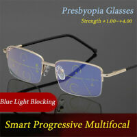 Multifocal Reading Glasses Anti Blue Light Presbyopia Glasses Smart Progressive