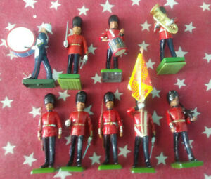 Britain's Marching Band- Set of 9 Loose Figures 1987