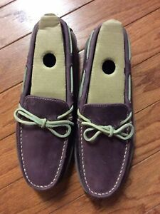 LL BEAN BROWN Womens LEATHER MOCCASINS HOUSE SHOES SLIPPERS NWOT SZ 9M